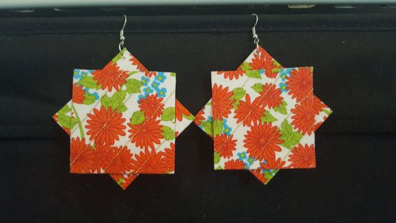 Check out this item in my Etsy shop https://www.etsy.com/au/listing/502948079/geometric-fabric-earring