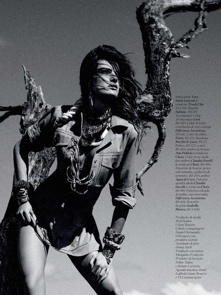 visual optimism; fashion editorials, shows, campaigns & more!: espírito selvagem: isabeli fontana by eduardo rezende for marie claire brazil november 2014