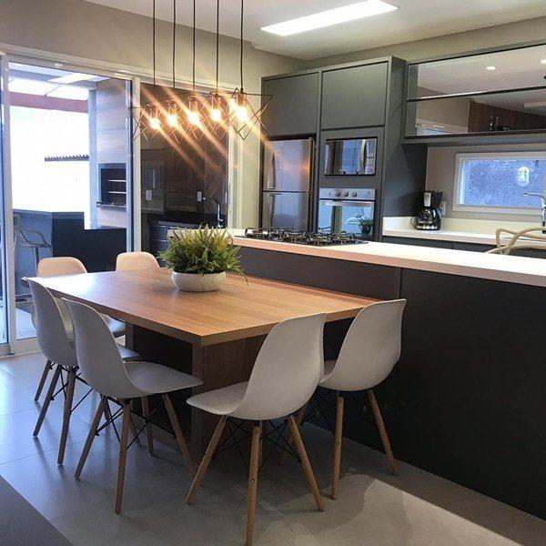 Sala de jantar integrada à cozinha   – Sala de Jantar