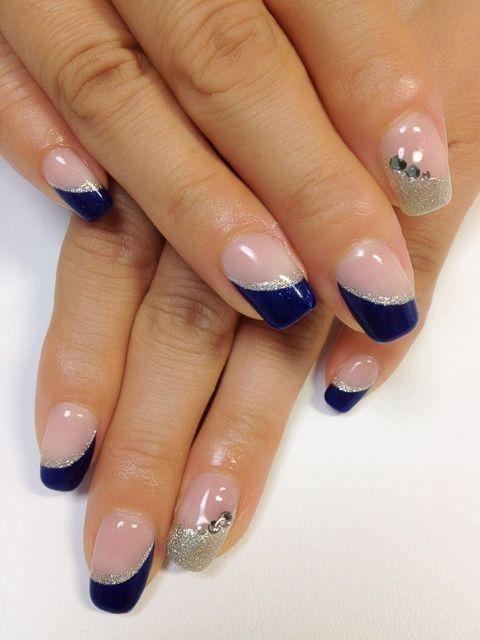 ホワイト×ターコイズブルーフレンチ☆ 桑名のネイル 〜NAILSLEI ネイルズレイ〜の画像   NAILS LEIのブログ