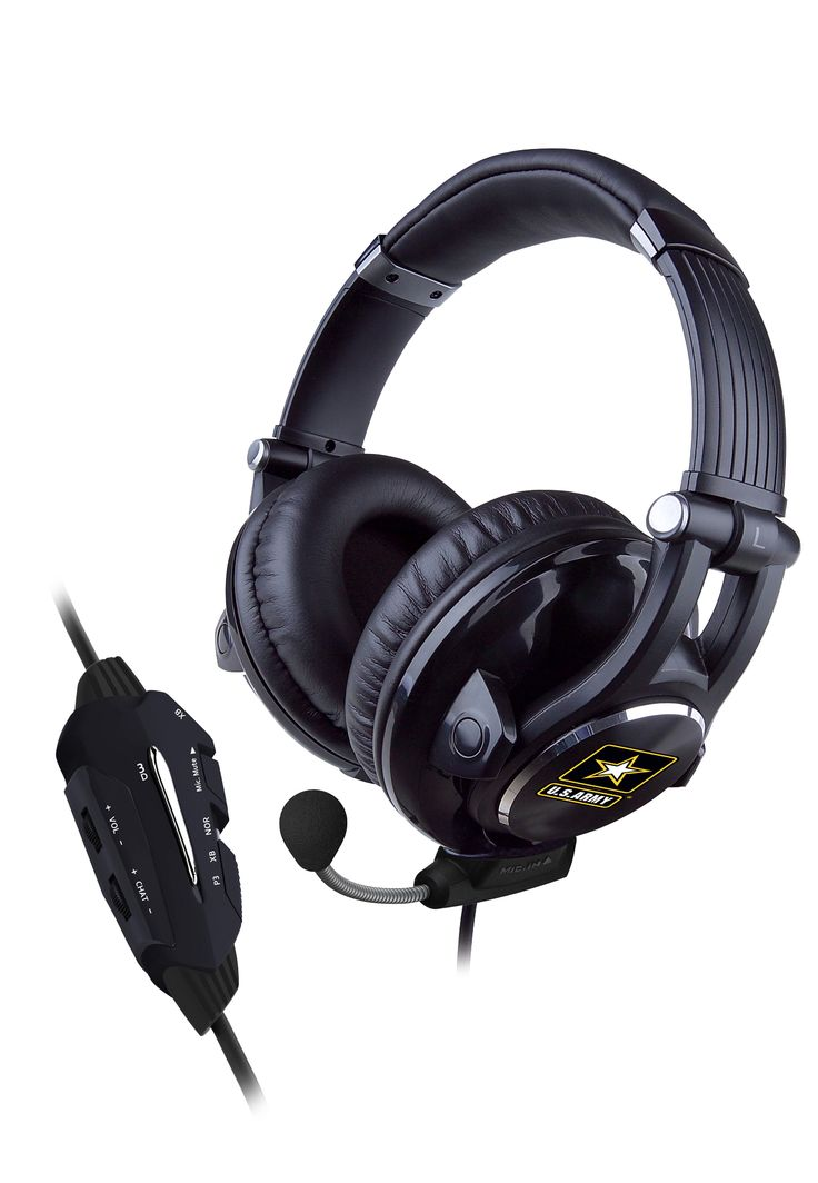 U.S. Army Universal Headset with 3D Effect, gamers enjoy it with PS3, Xbox 360 and PC games.