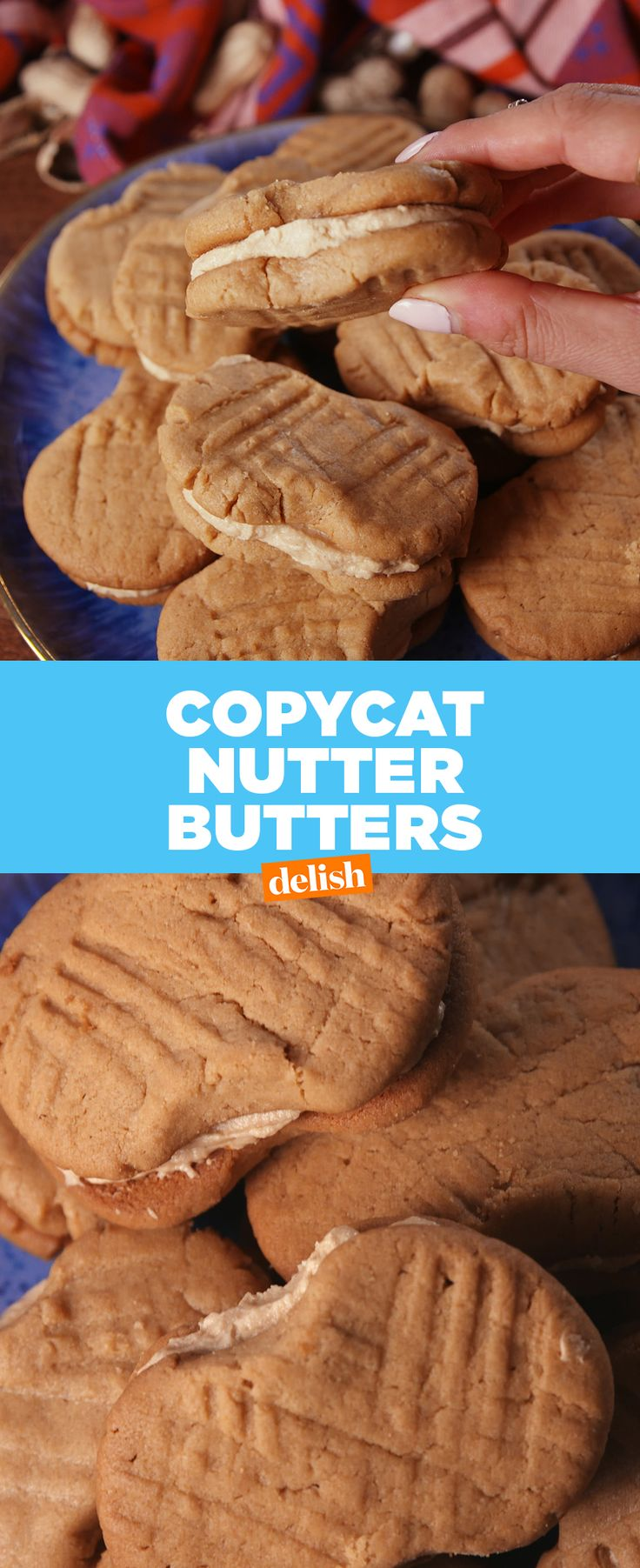Peanut butter lovers, these cookies are like Nutter Butter's on steroids. Get the recipe from Delish.com.