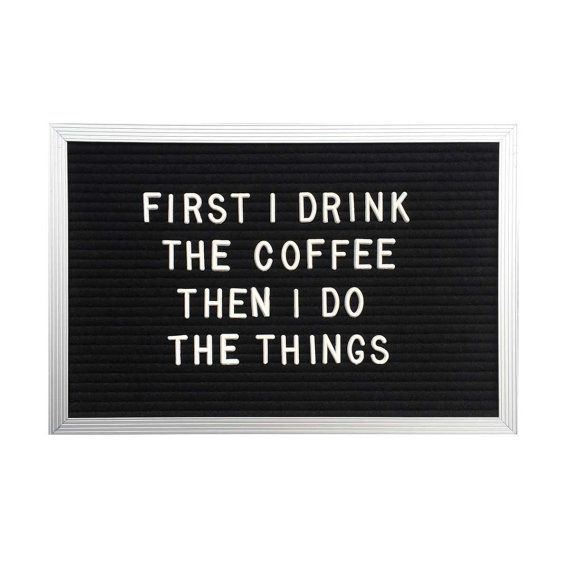 Put your love for coffee (or anything, really) on display with a vintage-inspired letter board by LETTERCLUB on Etsy.