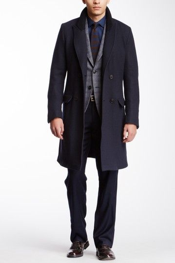 Great dark blue trench from #Armani