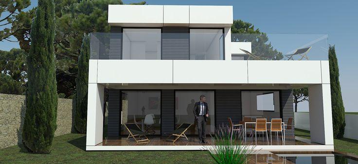 h-kub. Modelo 180c. Próxima instalación en Sant Cugat del Valles. Casas modulares, diseño y arquitectura. H-kub personalizacion 100%. #casamodular #casa #arquitectura #diseño #arquitecturamoderna #arquitecturamodular #modularhome #modularhouse #casaprefabricada