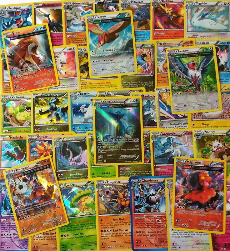 Pokemon TCG 50 Cards Lot - Rare, Uncommon, Common (GUARANTEED 5 Rare & Holos)