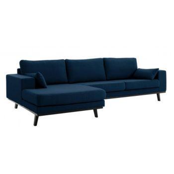 canapé d'angle gauche bleu ♡♡♡♡♡