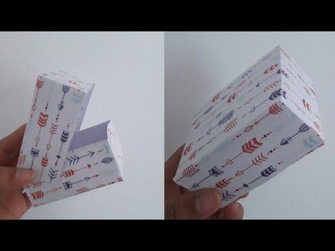 How To Make Easy Gift Box With Paper Very Easy Tutorial اسهل طريقة لصنع علبة هدية Youtube Diy Paper Paper Crafts Paper Box