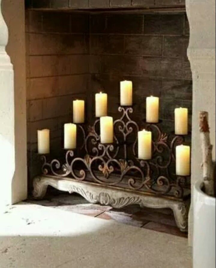 Candle Fireplace Insert 7 best chimeneas images on pinterest | candles, candles in