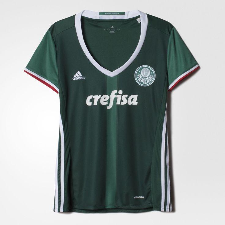 [ADIDAS] Camisa Palmeiras I Feminina 2016/17 R$ 94,05 + FG
