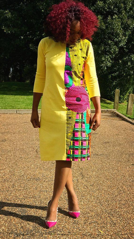 L'introduction d'une manière plus douce à faire infuser notre très belle impression de pagne africain dans votre tenue de tous les jours. Cette robe élégamment conçu vous fera certainement se démarquer. Utilisant un tissu partiellement en polystyrène et en coton pour fabriquer cette