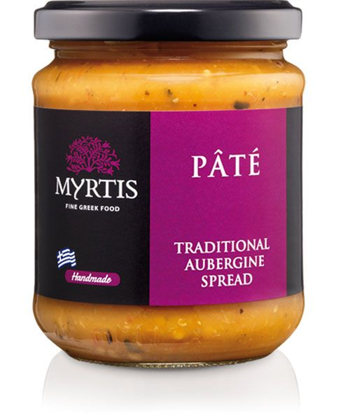Myrtis Aubergine Spread a Greek cuisine favorite, has been a popular dish of the local diet for many years. Whether served with toasted bread or as part of an assortment of Greek tasty 'meze' platter, it is an enjoyable and very fulfilling appetizer.