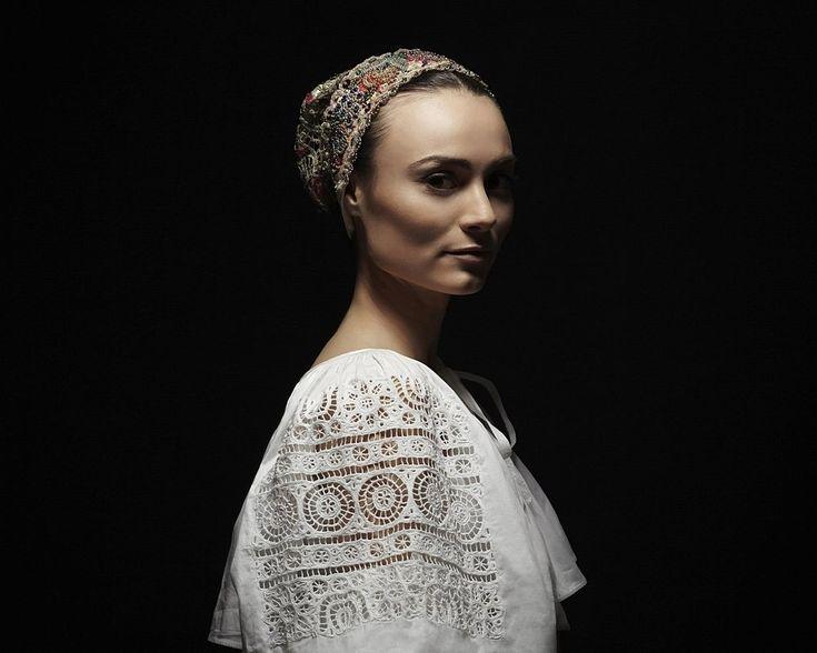 Slovak Renaissance - photo-project by Slovak photographer PETRA LAJDOVÁ documenting traditional Slovak headdresses. Čepiec, Detva. © Petra Lajdová