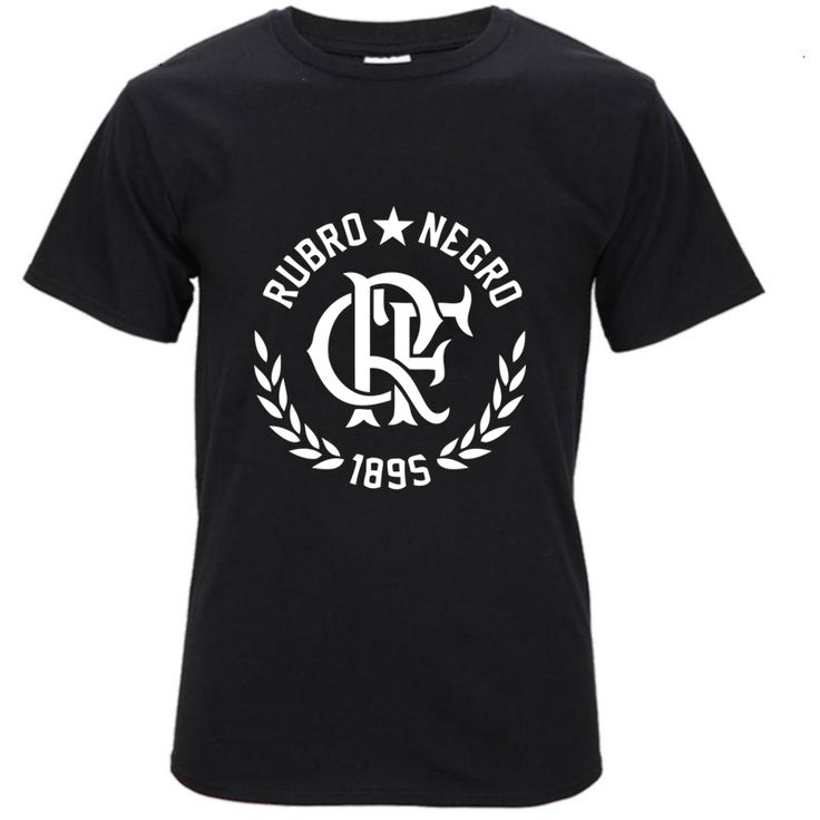 escudo CLUBE DE REGATAS DO FLAMENGO short sleeve T-shirt Top Lycra Cotton Men T shirt New DIY Style #Affiliate