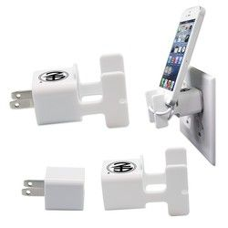 Wall Charger Phone Caddie - White