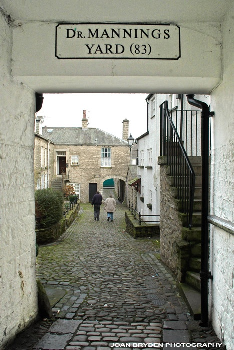Dr. Mannings Yard, one of the secret treasures you find walking down the main street,Kendal, Cumbria, England, UK
