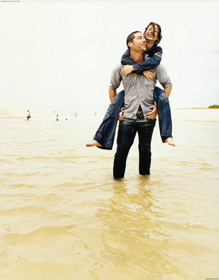- Matthew Fox and Evangeline Lilly