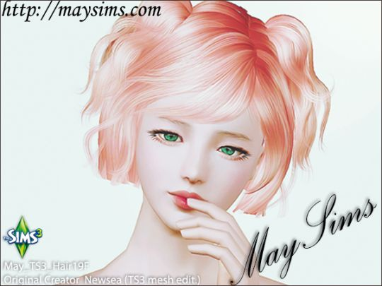 Mayims: Sims 3 Hair - May_TS3_Hair19F