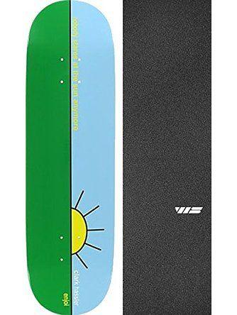 "Enjoi Skateboards Clark Hassler Sun Resin-7 Skateboard Deck - 8.5"" x 32"" with Jessup Die-Cut Grip Tape - Bundle of 2 items ❤ Enjoi Skateboards"
