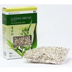 Slzovka obecná Má silné čistící účinky, používá se k detoxikaci organismu, podporuje funkci sleziny, pomáhá trávení masa a tuků.