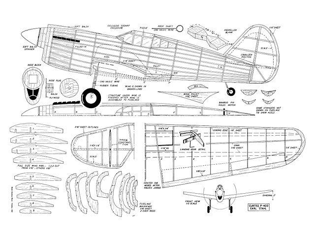 Curtiss P-40D - plan thumbnail