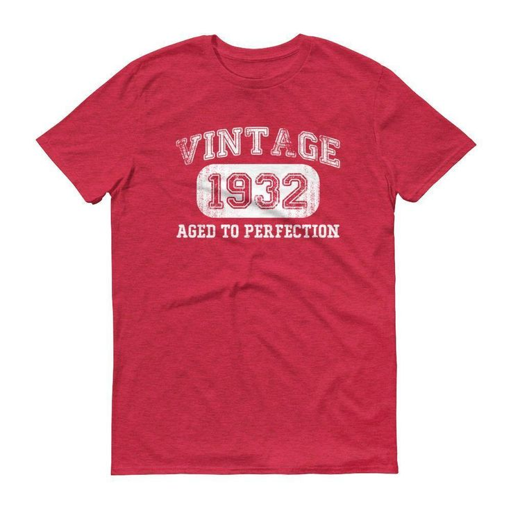 Men's Vintage 1932 Aged to perfection T-shirt - 85th birthday ideas for grandpa