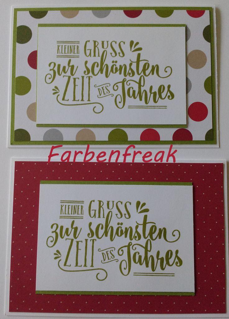 """Weihnachtskarte """"Zur schönsten Zeit"""" grün"""