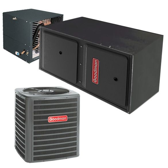 1 5 Ton A C Goodman Gsx140181 14 Seer Central Air Conditioner 30 000 Btu 96 Efficiency In 2020 Central Air Conditioners Central Air Conditioning System Furnace System