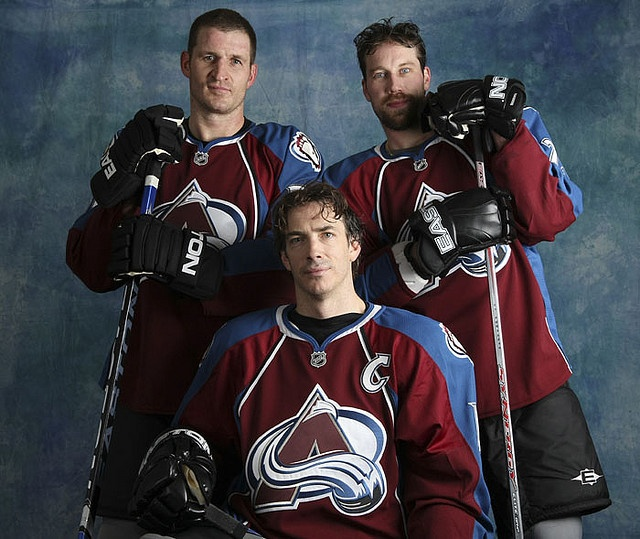 Foote, Sakic, Forsberg - even though I am a diehard Blackhawks fan, these 3 started my love for hockey! Such talent!!!