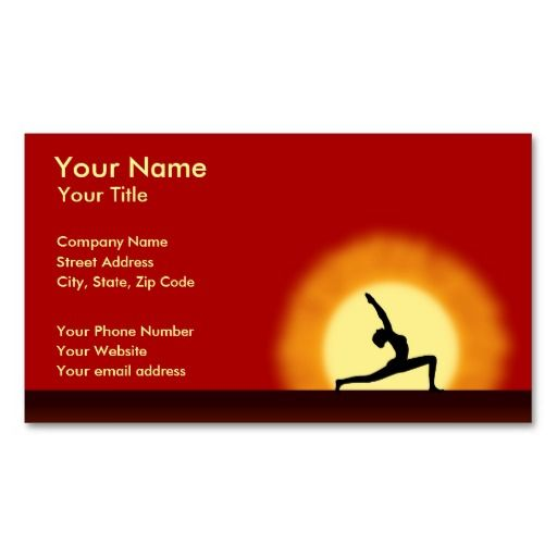656 best fitness yoga spa business cards images on pinterest yoga sunrise yoga teacher instructor business card reheart Image collections