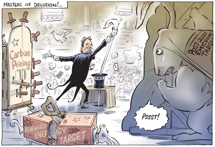 LIBERALS AND CLIMATE CHANGE Cartoon by DAVID POPE.