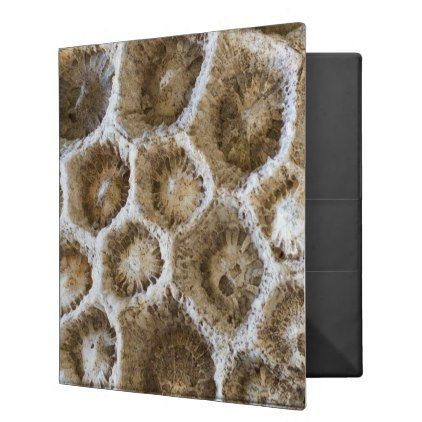 Fossilized Coral Closeup Photo Binder - photography gifts diy custom unique special