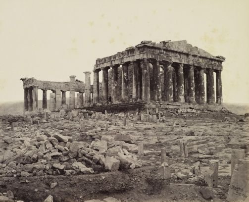 South West View of the Parthenon by photographer Francis Bedford (1815-94)