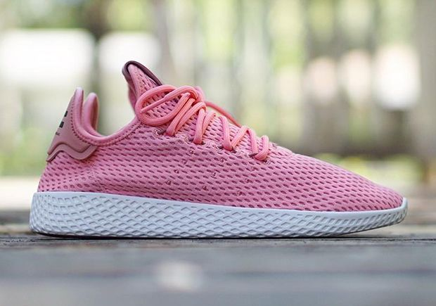 "#sneakers #news  Pharrell's adidas Tennis Hu Releases In ""Raw Pink"""