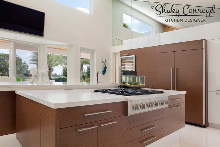 Contemporary kitchen design by Shuky Conroyd, Kitchen and Bath Designer. Winner of 2014 Crystal Design Award.