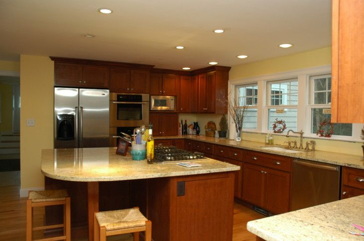 Kitchen Miraculous White Countertop Design Idea For Kitchen With Brown - pictures, photos, images