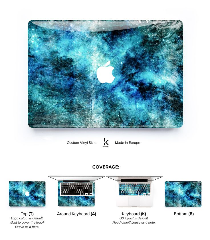 Rockstar of concrete and galaxy designs! Once you apply it, your Macbook will finally have something to show off to other Macbooks.