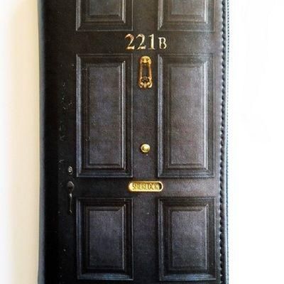 Sherlock holmes purse - wallet - 221b baker street women's clutch