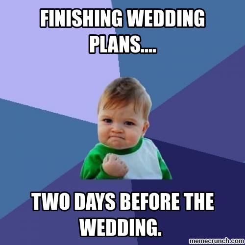 success kid on wedding planning wedding memes