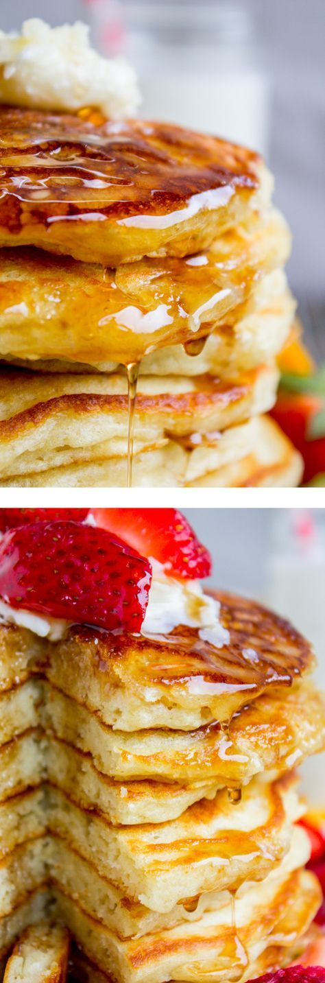 I've been looking for this buttermilk pancake recipe forever! They are fluffy, crispy on the edges, tender in the middle, and completely stackable. Frying them in bacon grease makes them totally irresistible! from The Food Charlatan.