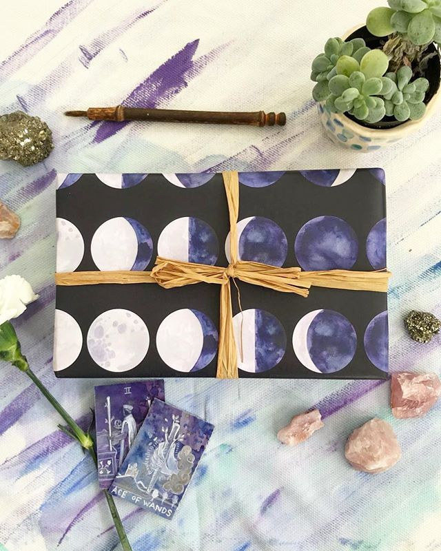 This is pretty much my favorite wrapping paper that I've designed so far. I'm considering transforming this pattern into a lunar calendar art print for 2019...what do you think?