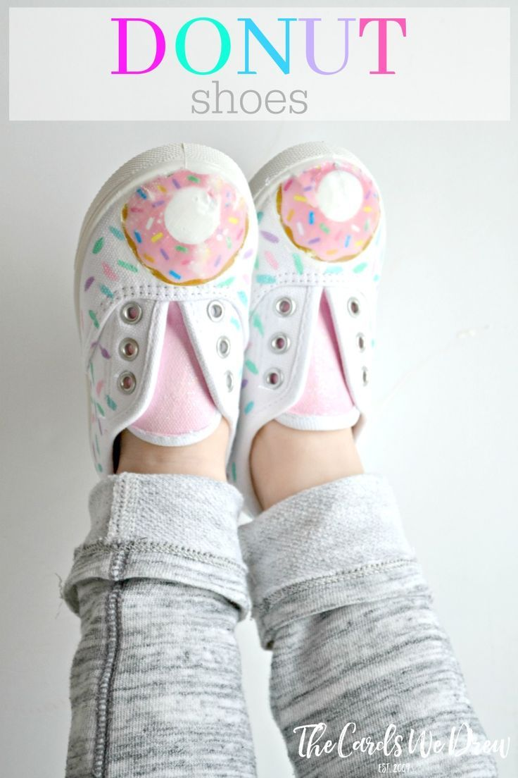 Make these cute little Donut Sneakers with Mod Podge Photo transfer and a clipart image of your choice! Transform a simple white tennis shoe!