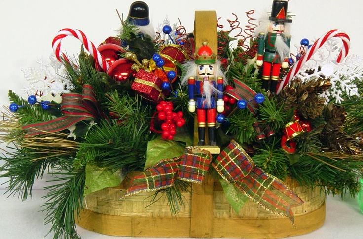Nutcracker centerpiece floral arrangement christmas winter