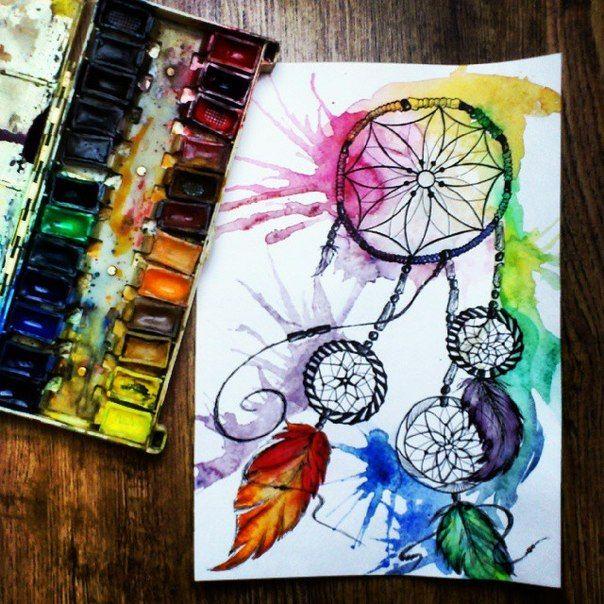 dreamcatcher art draw fosssaaa drawing paint watercolor