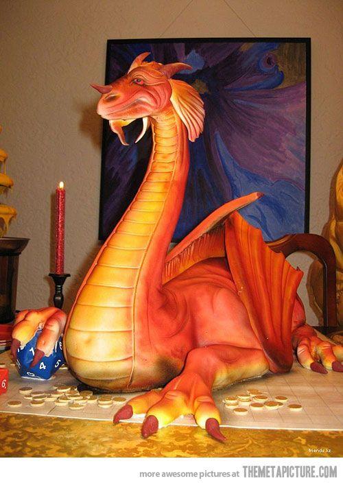 awesome dragon cake!!