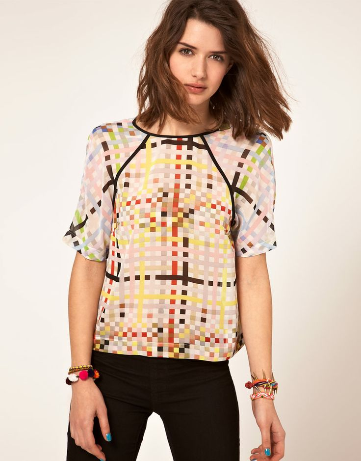 square print t-shirt $46