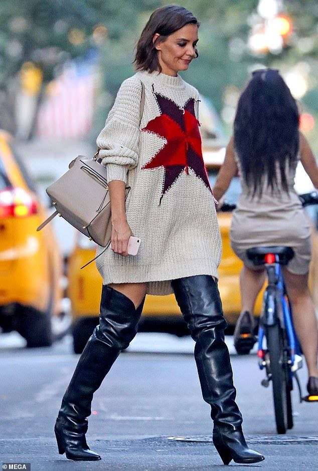Jazz Up Your Style With Thigh High Cowboy Boots Like Katie