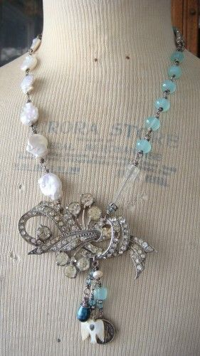 gorgeous vintage broach upcycled...