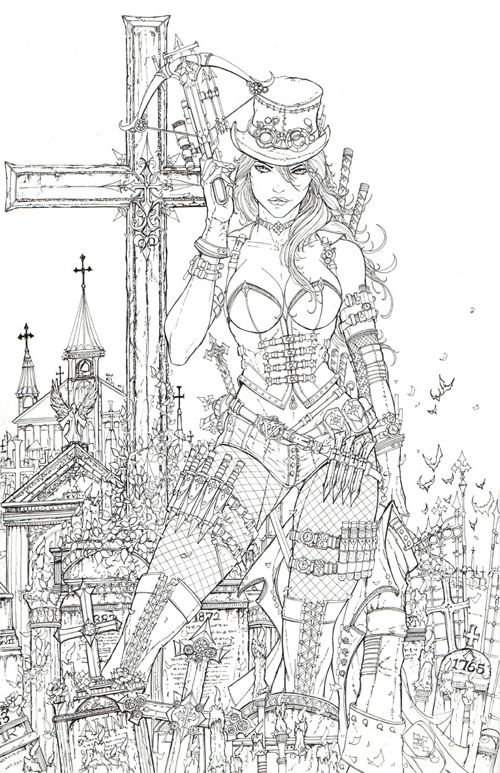 UNLEASHED Issue 1 - lineart by jamietyndall.deviantart.com on @deviantART