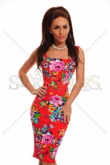 Fofy Colorful Fantasy Red Dress